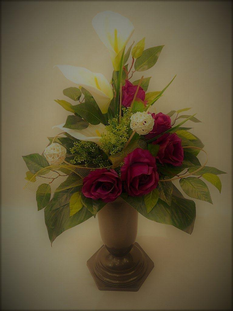 Bukiet z róż i kali